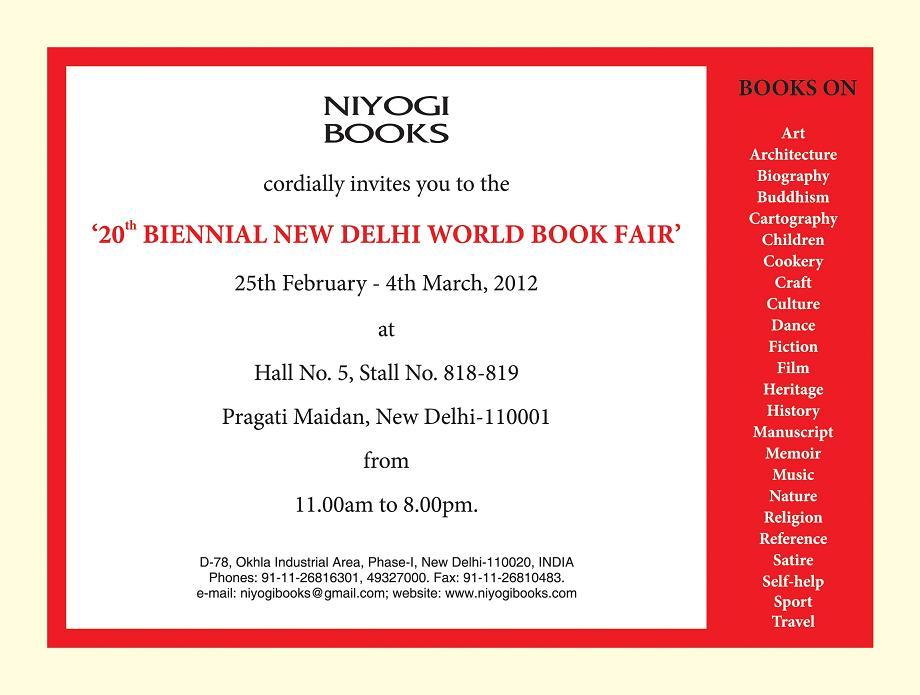 Delhi world book fair 2012 1 niyogi books delhi world book fair 2012 1 stopboris Choice Image